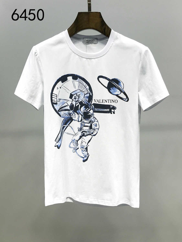 2020 verano nuevo patrón de la manga del hombre del cortocircuito del algodón de la tendencia Impresión Ampliar las camisetas Fácil de hombres Ropa de moda camisetas para los hombres camisetas 11292
