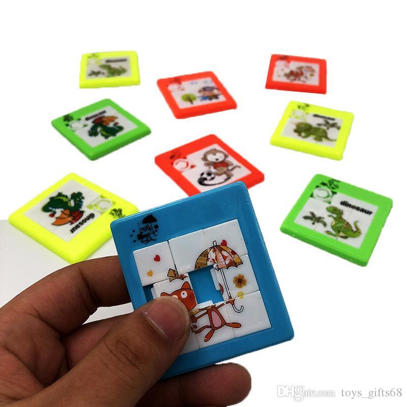 Quebra-cabeça de plástico móvel das Crianças Brinquedo Jigsaw Puzzle DIY quebra-cabeça imagem dos desenhos animados quebra-cabeça Do Bebê brinquedo de desenvolvimento intelectual