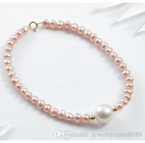 "charmante mer au sud multicolore bracelet perle 7-12mm 7,5-8"""