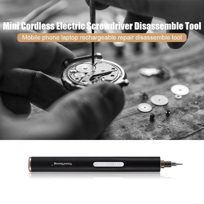Mini S2 Legierung Cordless Wiederaufladbare tragbare Elektroschrauber Handbuch automatisch Dual-Mode Telefon Reparatur Disassemble Werkzeug
