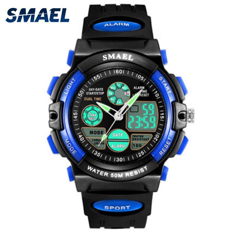 SMAEL Digital Watches Kids Dive 50M Water Resistant Wrist Watch Children S Shock Watch 0508 LED Clock Kids Sport Watch for Boys