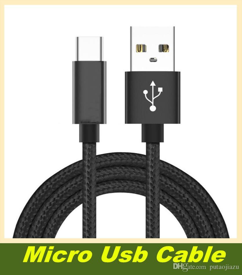 Micro Usb Cable Alta velocidad 60 CM Cargador USB trenzado Cable USB de carga para teléfonos HTC Sony LG Samsung con todos los teléfonos Android