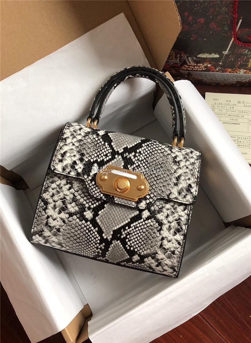 2019 D New style Hand Palmprint Crocodile Leopard serpentine Print pattern Women leather Handbag single shoulder Tote messenger Top Cowhide
