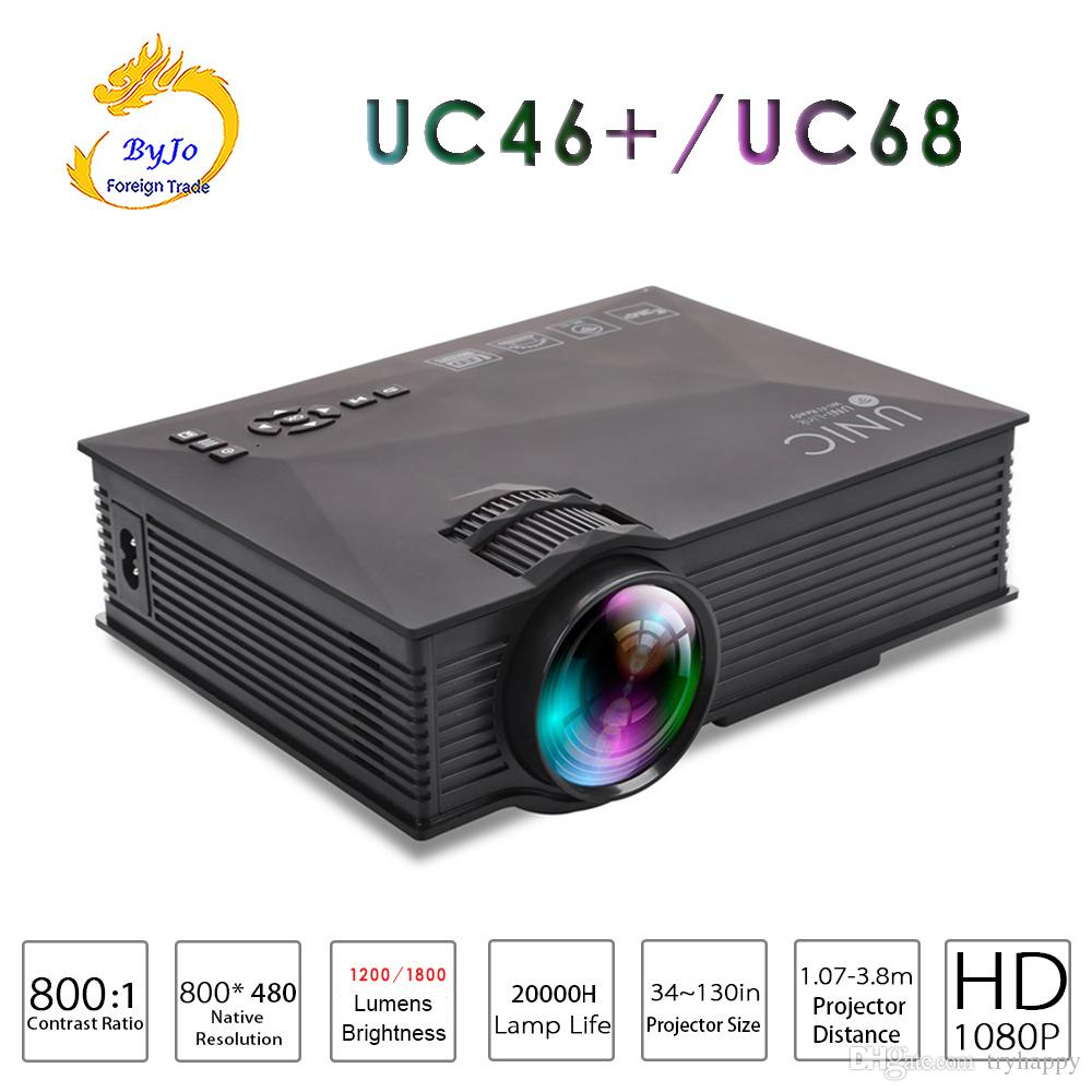 Original UNIC UC46+ Or UC68 mini-led projector AirSharing theater multimedia projector Full HD 1080p Video projetor Upgrade of UC46