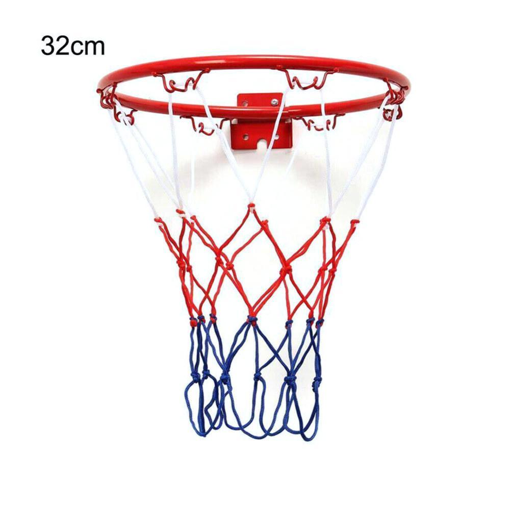 Bambini Bambini 32 centimetri in acciaio inox di pallacanestro Anello del cerchio netto con viti montato Obiettivo del cerchio Rim Net Sport reticolato Interni Esterni