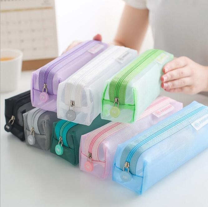 Multi Transparent Stationery Bag Pen Case Test Special Students Gauze Pencil Bags Pencil Cases & Bags Office & School Supplies HA690
