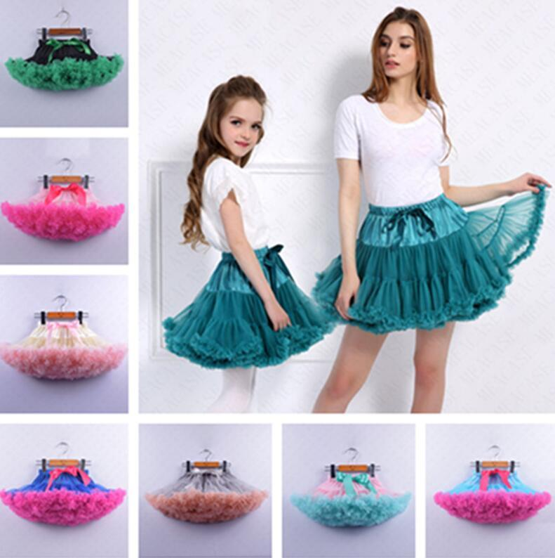 Summer Women Girls Tutu Skirt Lolita Pettiskirt Petticoat Elastic Fluffy Chiffon Tutus Party Ballet Pleated Dresses Princess Skirt D61608