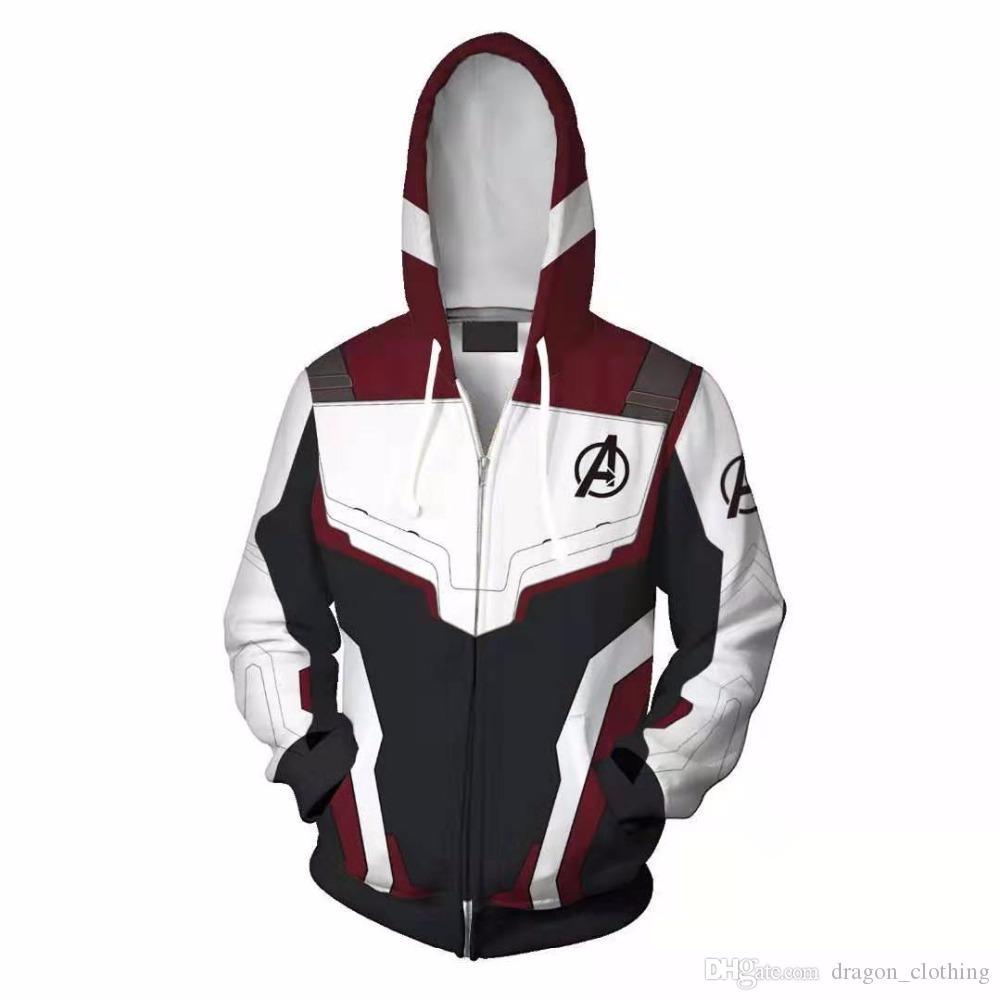 Avengers Son Oyun Kuantum Diyar Sweatshirt Ceket Gelişmiş Tech Hoodie Cosplay Kostümler Yeni Superhero Iron Man Kapüşonlular Suit