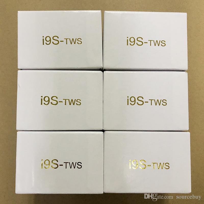 i9 i9s TWS 무선 헤드폰 스테레오 블루투스 5.0 IOS 안드로이드 전화 + 자기 충전 박스 실리콘 프로텍터 케이스에 대 한 이어폰 earbuds