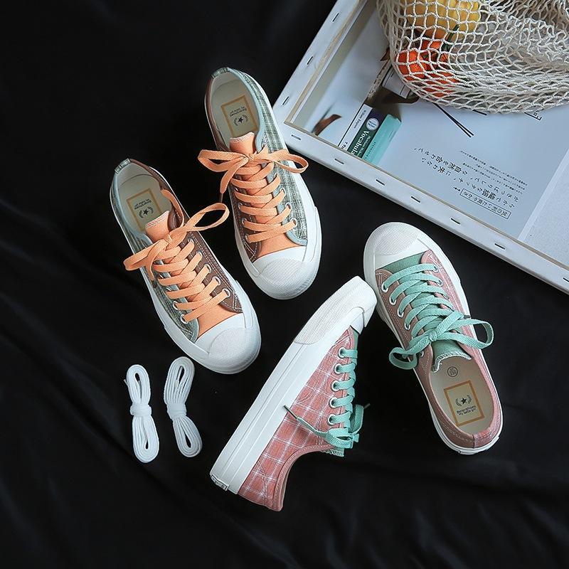 zapatos de lona de estudiantes de sexo femenino versión coreana 2019 nuevo verano de nicho Joker ulzzang Harajuku ins Super Fire zapatos de mujer