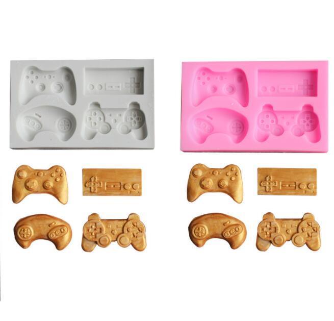 Manette de jeu Moule gâteau en silicone à la main bonbons Moisissures Video Game Controller Gamepad Moule Fondant Moule pour chocolat bricolage cuisine DNN