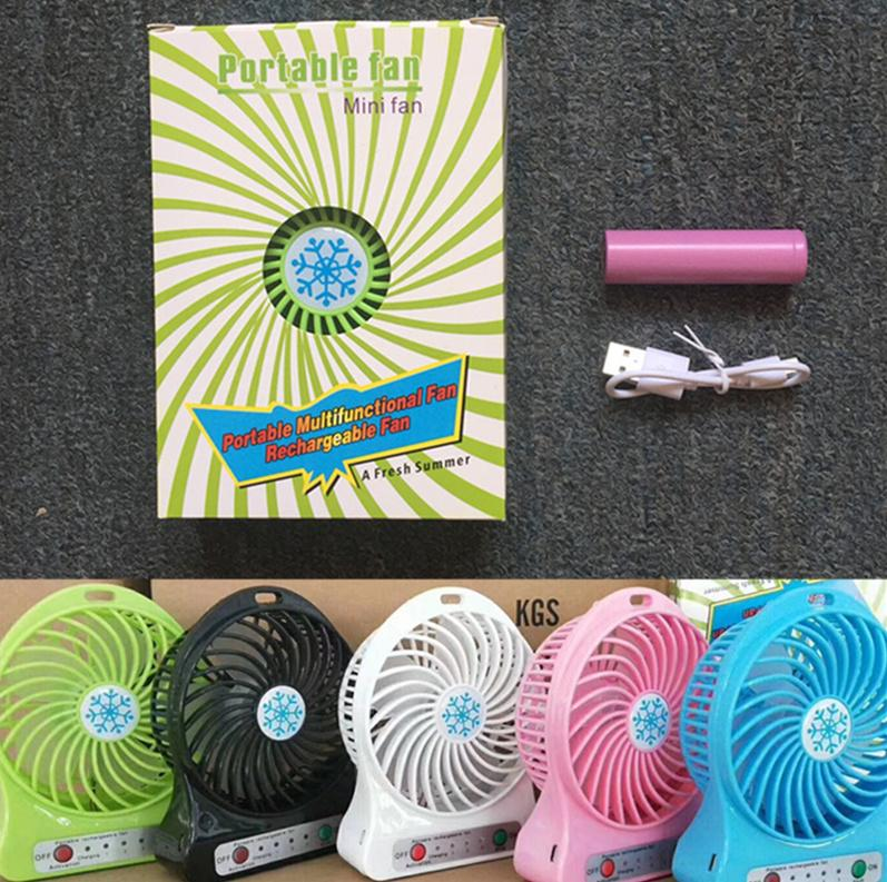 Portable LED Light Mini Fan Air Cooler Mini Desk USB Fan Third Wind USB Fan