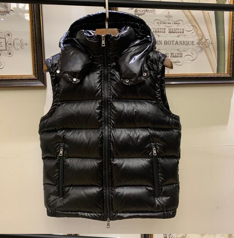 Sıcak satış Kış aşağı yelek Erkekler Yelek Aşağı Gevşek Weskit Hoody Bel ceket Mat Erkek Vest Ördek% 90 Beyaz
