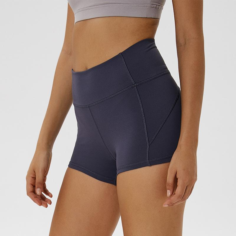 Coloravlue Macio Nylon aptidão Jogger Mulheres cintura alta Esporte Sólidos Workout Magro Gym Controle Tummy Atlético Shorts T200504
