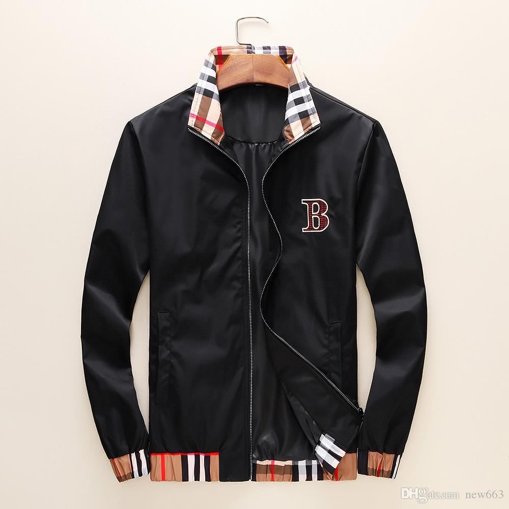 de los hombres del otoño y chaqueta nueva marca de moda de lujo de la cremallera Diseño cazadora informal locomotora de ropa deportiva de las mujeres libera el envío largo B3 M-XXXL