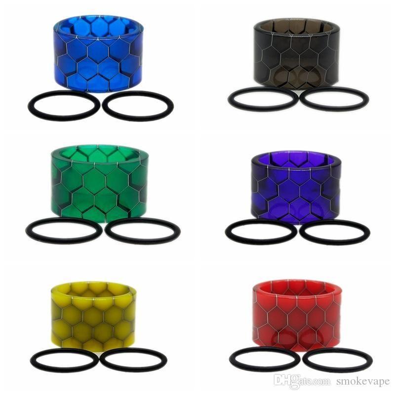Mais recente Resina Drip Tip Colorido Cobra Wide Bore Fit Vape Vape V9 Max Kit Tanque Atomizador Vaporizador de Alta Qualidade Hot Bolo DHL
