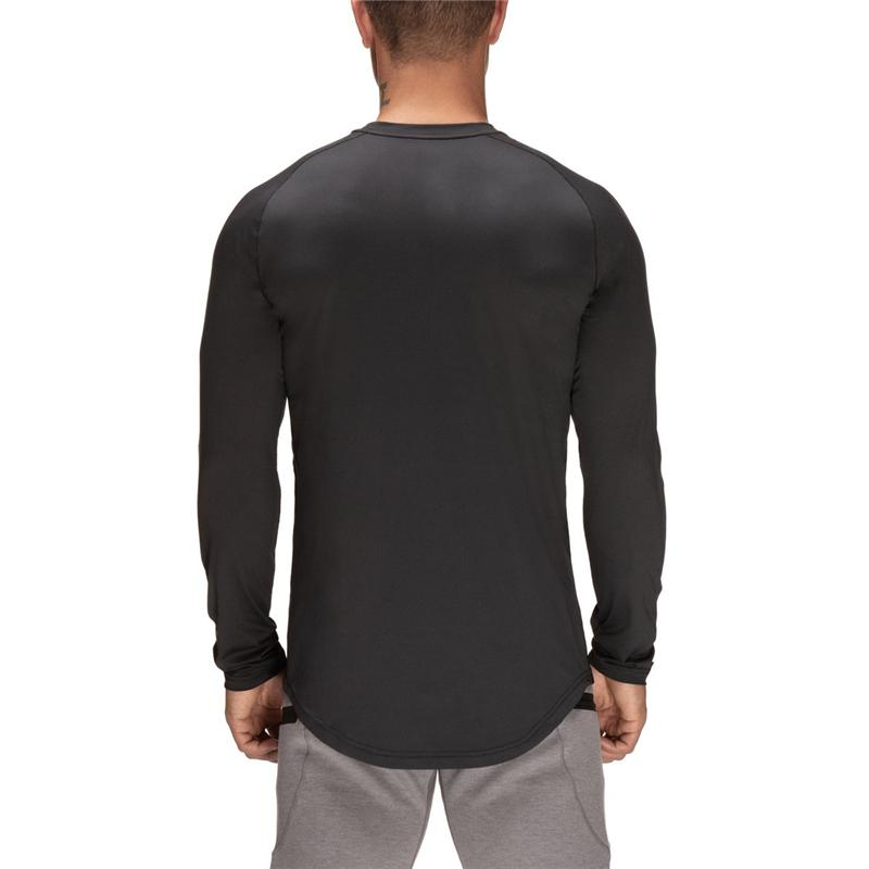 YYear Men Casual Active Running Gym Workout Long Sleeve Slim Fit T-Shirt Tee