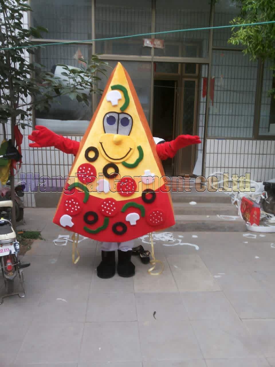 New Pizza mascote da classe Top traje trajes de personagens de banda desenhada deluxe Pizza mascote traje fantasia vestido de festa de carnaval frete grátis