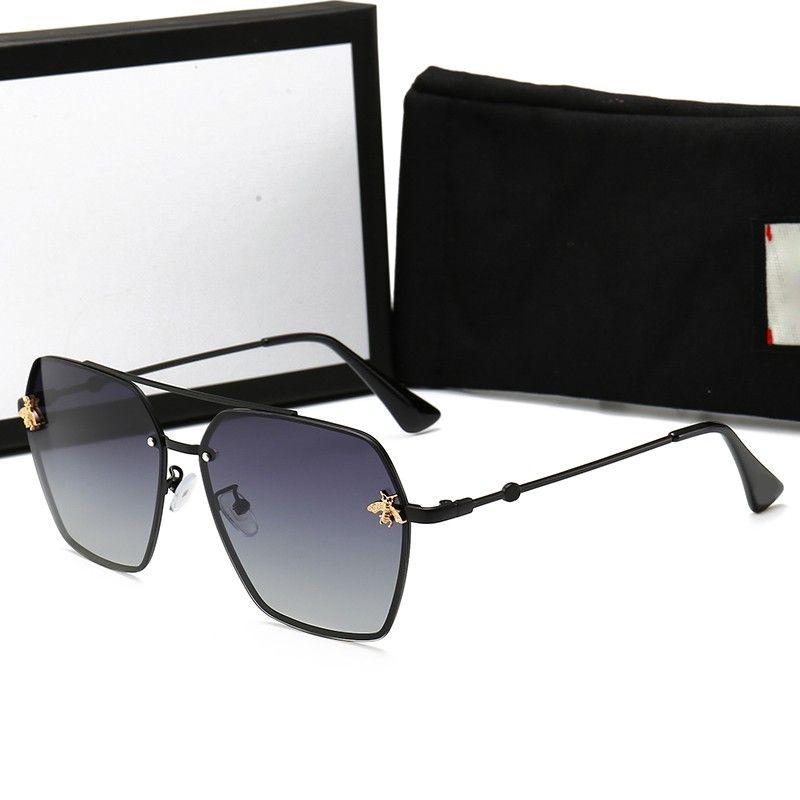 Para hombre del diseñador de moda gafas de sol polarizadas para mujer pequeña abeja vidrios de Sun de las gafas de sol UV400 con el caso y la caja