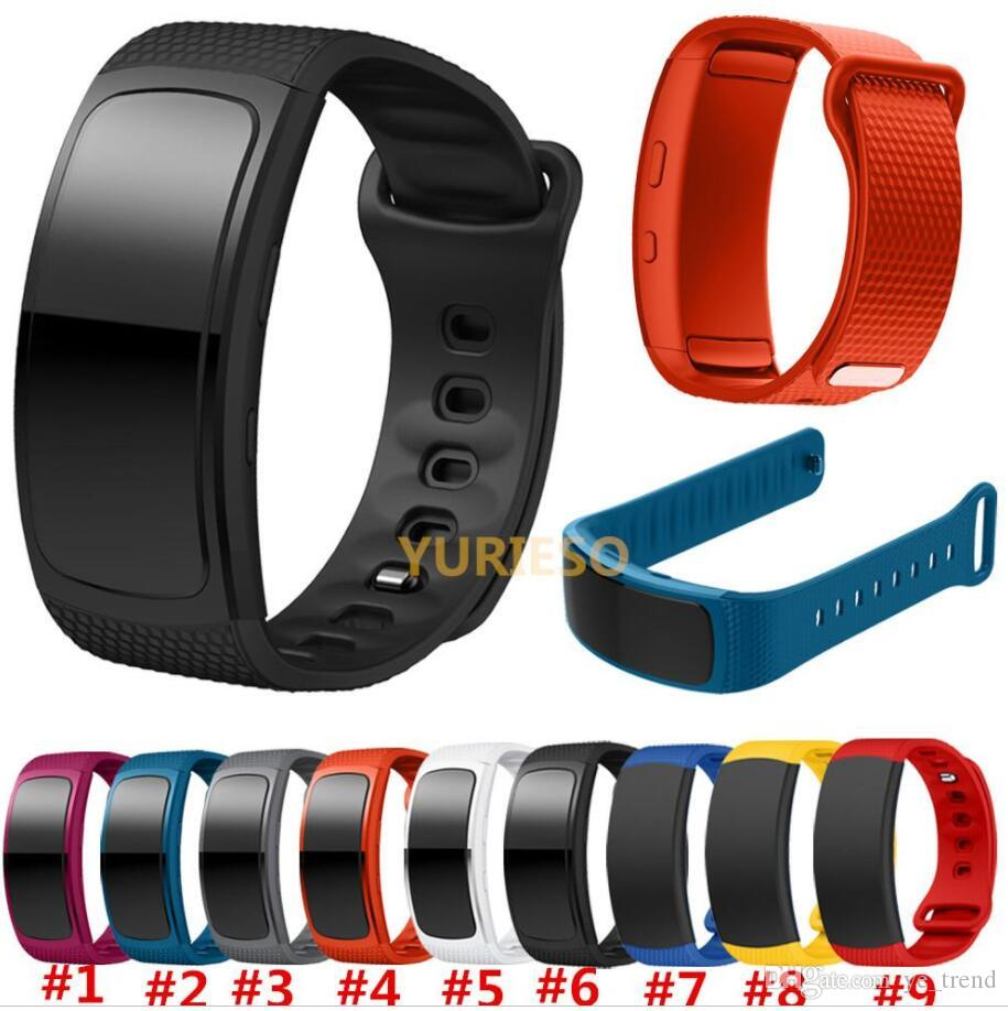 New For Samsung Gear Fit 2 SM-R360 watch Wristband Watch band sport Silicone Watch Replacement wrist Band bracelet Strap