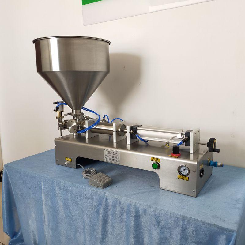 Machine de remplissage automatique quantitative coller machine de remplissage pour machine de remplissage unique de la tête de l'arachide ketchup sauce chili beurre