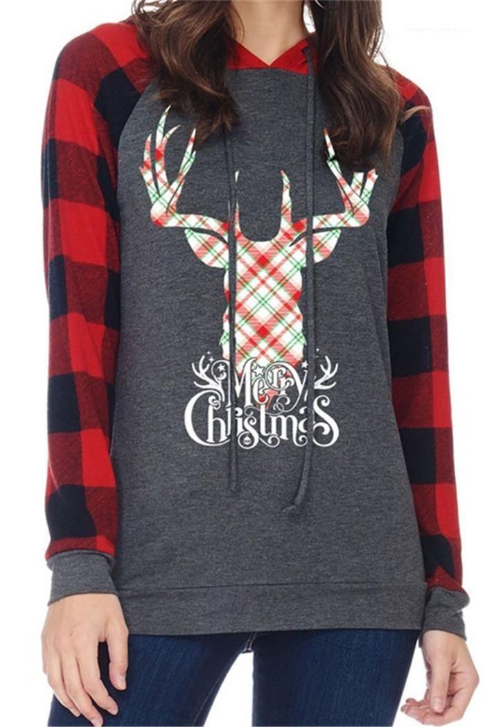 Weibliche Kleidung Mode Lässige Kleidung Frauen Herbst Designer-Plaid-Weihnachten Pullover Pullover Langarm-Festival Stil