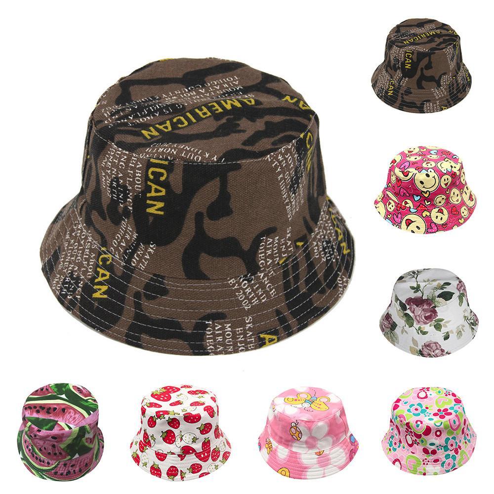 2018 Fashion Toddler Baby Kids Boys Girls Floral Pattern Bucket Hats Sun Helmet Cap High Quality Lovely Gift