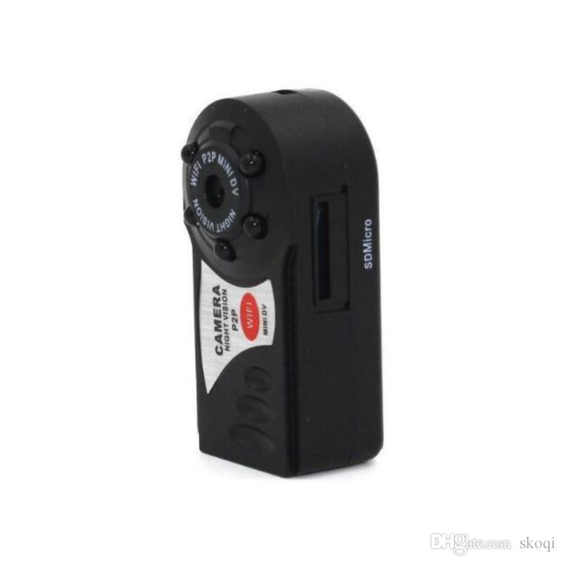 New Q7 Mini Wifi DVR Wireless IP Camcorder Video Recorder Q7 Camera Infrared Night Vision Camera Motion Detection Built-in Microphone 10pcs