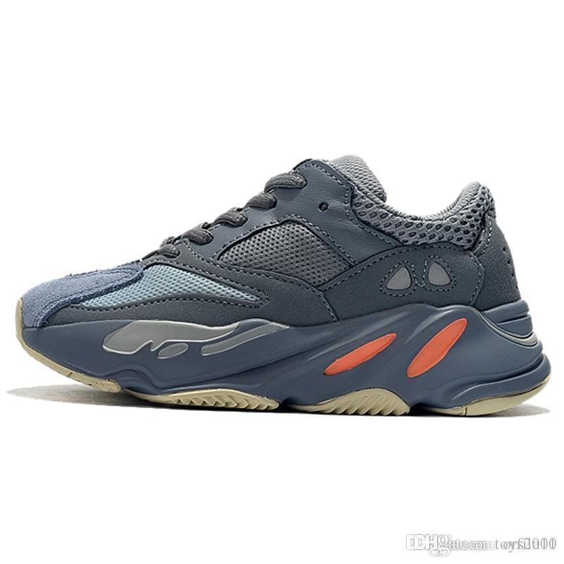 Kids Shoes corredor da onda 700 Running Shoes Kanye West Sapatilha Boy Girl instrutor Sneakers alta qualidade crianças Athletic Shoes sdqwe