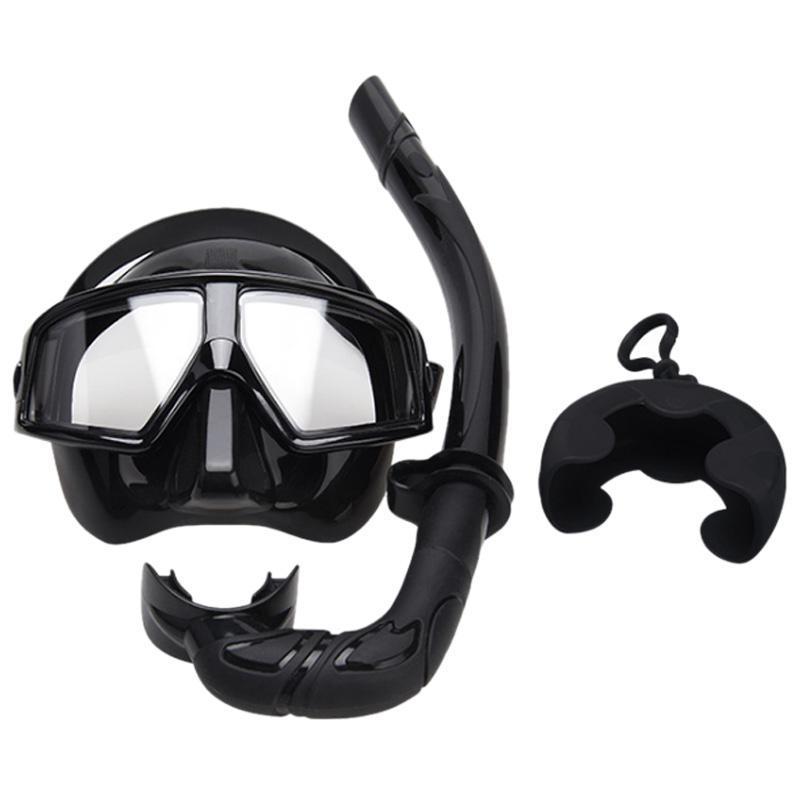 New Snorkel Mergulho Máscara Adulto Óculos de respiração tubo Set Goggles Set Mergulho Três Tesouros
