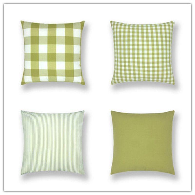 Plaid Stripe Solid Pillowcase Cuscino decorativo americano rustico Decorazione della casa Prodotti Divano Car Chair Pillow 45 * 45cm