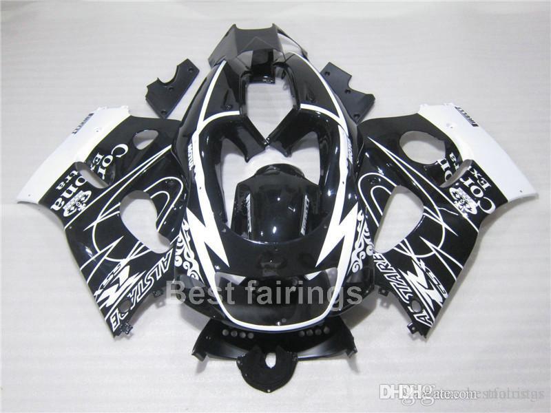 ZXMOTOR Fairing kit for SUZUKI GSXR600 GSXR750 SRAD 1996-2000 black white GSXR 600 750 96 97 98 99 00 fairings FG45