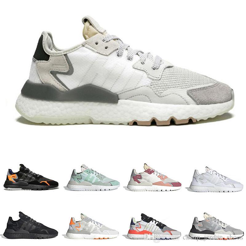 Venta caliente nite jogger zapatillas para hombres mujeres reflexivo triple negro blanco GRIS PACK TRACE PINK para hombre entrenador zapatillas deportivas corredor