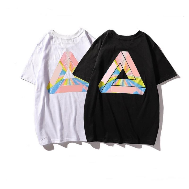 Hombres letra de la manera caliente de la venta para hombre de la camisa de lujo de la tendencia PALACIOS camiseta 19SS clásica de calidad superior de impresión Tee Shirts entrega gratuita