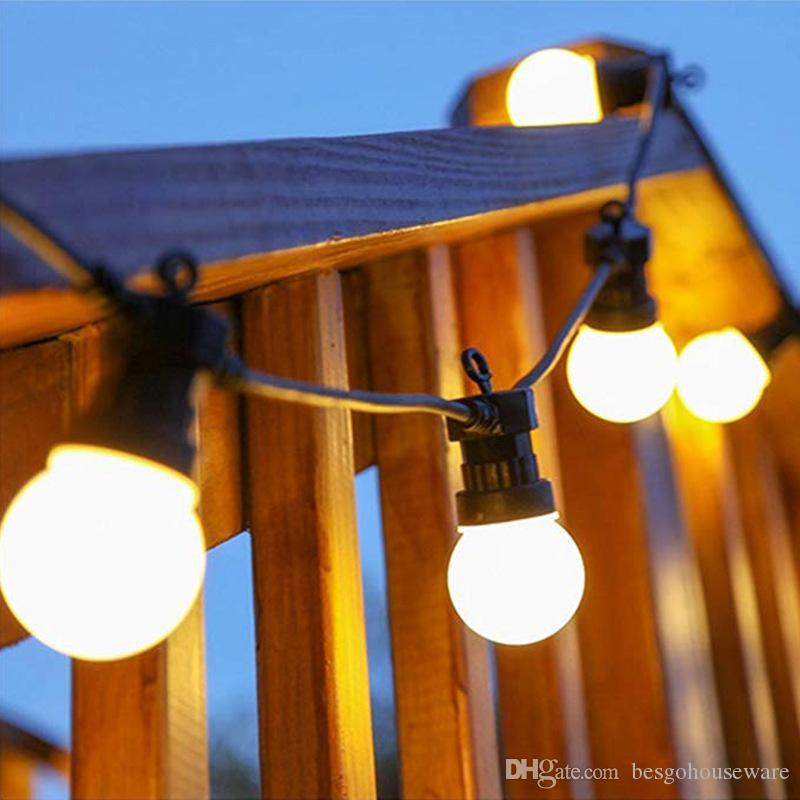 Ampoule LED Chaîne De Lumière 10 Lumière 5 M Imperméable À L'eau Extérieure Suspensions Lumières Chaîne De Mariage De Noël Festival Maison Jardin Décoration BH2174 CY