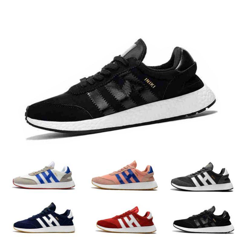 Boyut 36-45 İndirim Satışa Iniki Runner Ayakkabı Gerçek Üst Kalite Orijinal Iniki Runner Erkekler Bayan Sneaker Ayakkabı 2019 Koşu