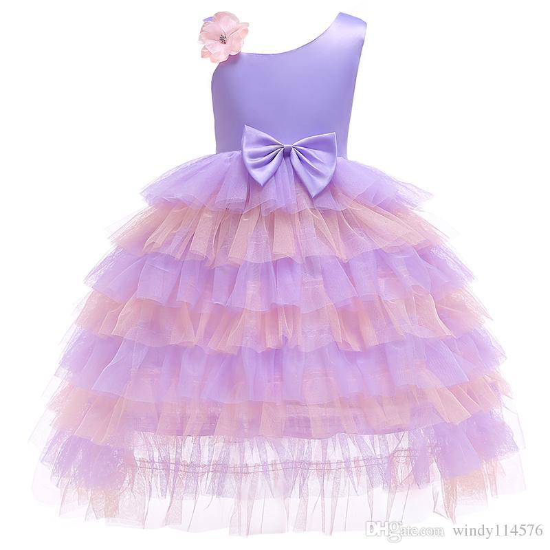 New Arrival Flower Party Girl Dress for Toddler Girls Clothes Dresses Princess Kids Tutu Dress for Girls Children Clothing XF19