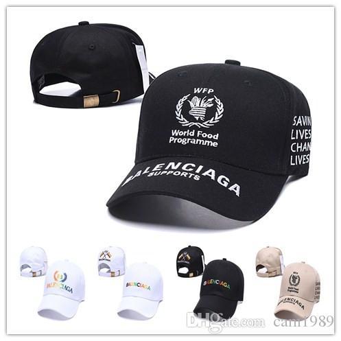 Commercio all'ingrosso VETEMENTS cappelli Snapbacks ricamo Cappellini logo berretto da baseball di sport programma alimentare mondiale 2020 supporta la protezione solare Cappelli viaggi di piacere