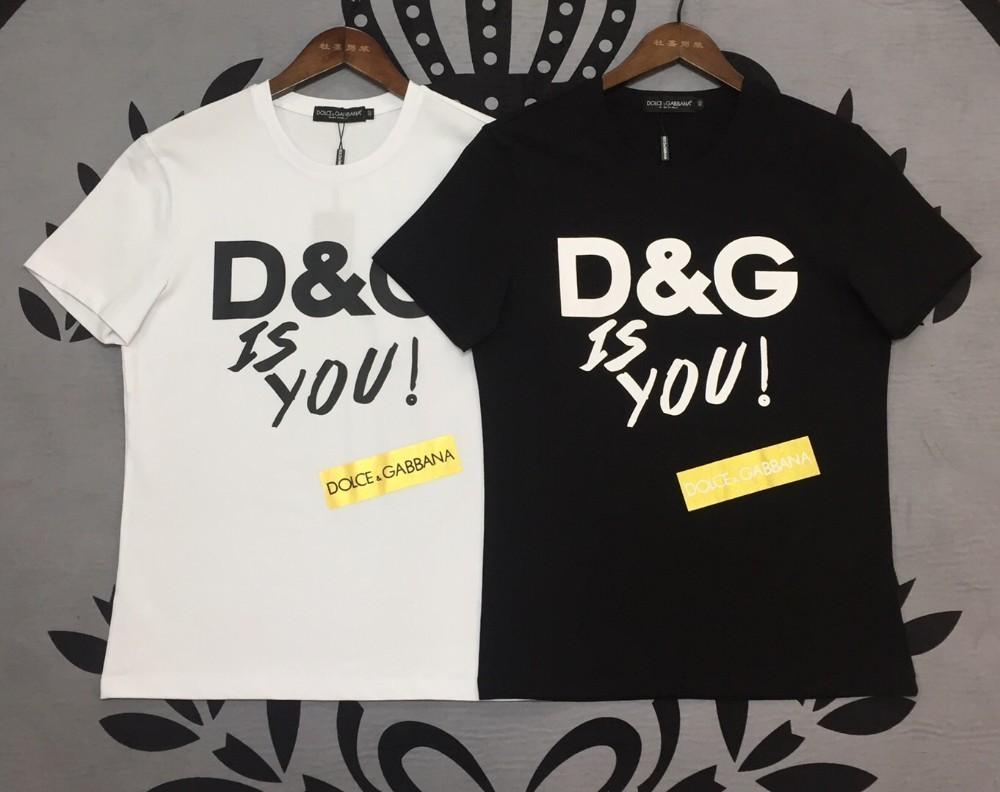 T-shirt erkek yaz yeni rahat vahşi siyah ve beyaz T-shirt moda erkek mektubu baskı T-shirt erkek 2019