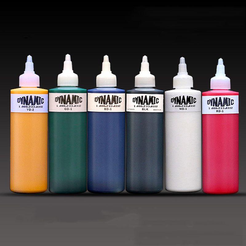 Alta qualità dinamica tatuaggio dell'inchiostro di colore per il corpo vernice forniture 8OZ del pigmento del tatuaggio originale di importazione per la dell'artista professionista