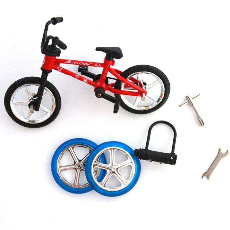 Legierung Finger Fahrrad Ersatzrad Werkzeug voll boxed neues seltsames Tisch Spielzeug
