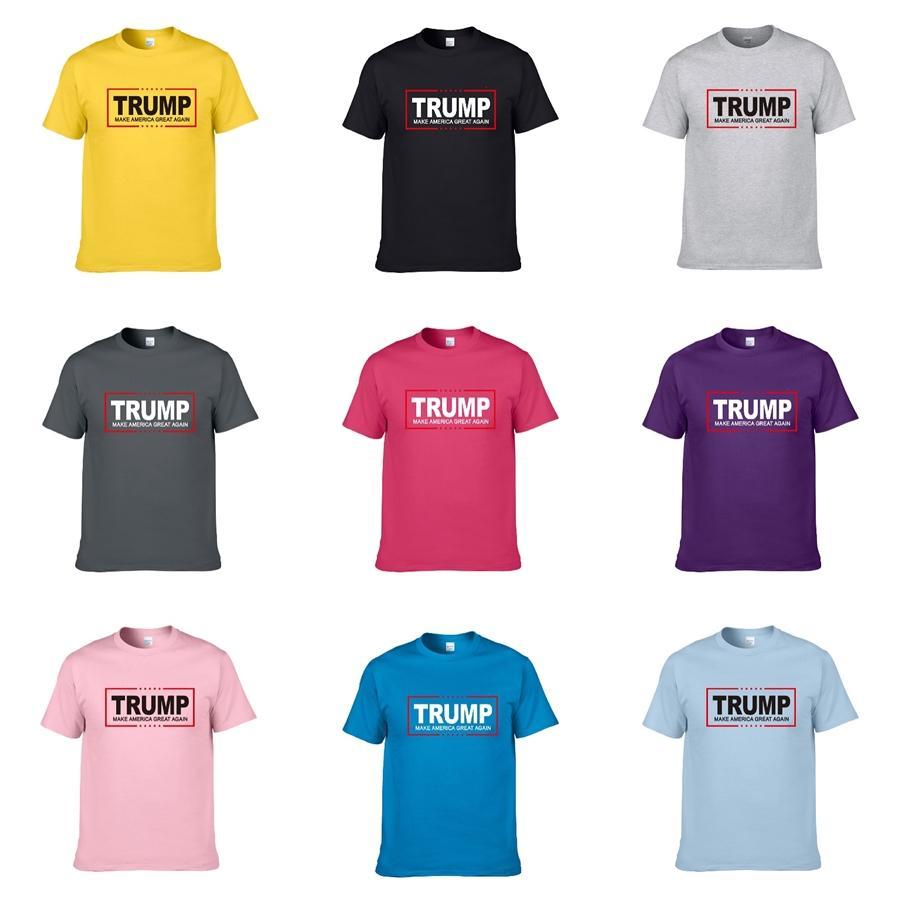 2020 New Designer Qualidade Cotton New O-Neck de manga curta Trump T-shirt do fantasma cabeça Marca homens e mulheres de Trump T-Shirt Fashion Style Sports