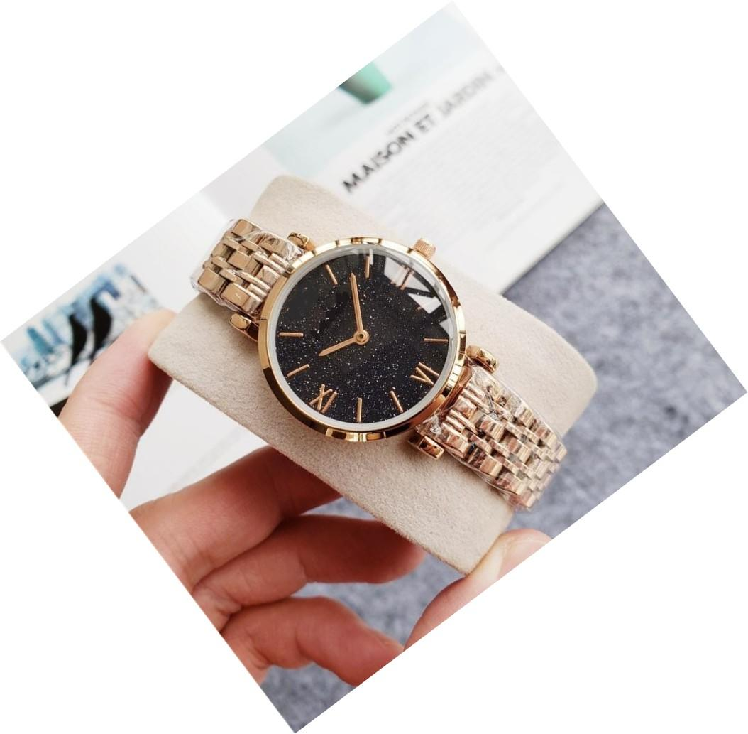 Ünlü Lüks Kuvars saatı Relogio Montre Femme İnce Paslanmaz Çelik Saat en kaliteli lüks saatler tasarım Güzel saati