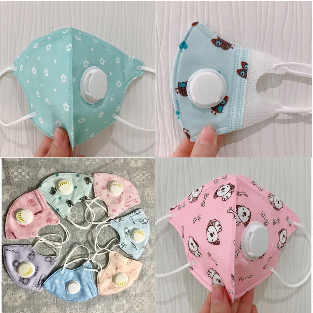 moda cara máscara facial Boca cubierta PM2.5 máscara máscaras protectoras de polvo niños respirador reutilizable lavable de algodón en la acción