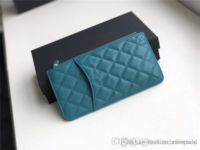 Mulheres bolsa clássica, três em um telefone titular do cartão caso e carteira fácil de transportar bolsa para a carteira da forma das senhoras, com caixa original