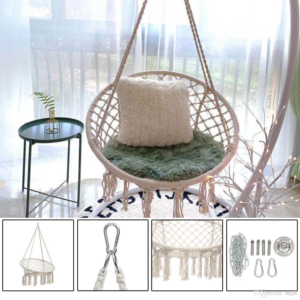 Fauteuil Suspendu D Exterieur acheter swing hamac ronde chaise dextérieur suspendu dortoir intérieur  chambre chaise suspendu pour la sécurité adulte enfant hamac avec des