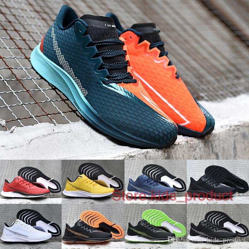 Rival Fly 2 Ekiden Running Shoes 2020 Brand Original Men Sneakers Pegasus  Turbo 2.0 Black White Bred Volt Sports Shoes Size 7-11