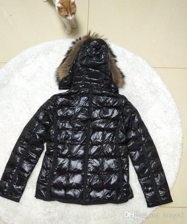 Großhandel Hot Branded Winter Daunenjacke Frauen Kurze Warme Mantel Schwarz Big Pelz Mit Kapuze Weibliche Weiße Ente Daunenjacke Von Bingo2, $147.26