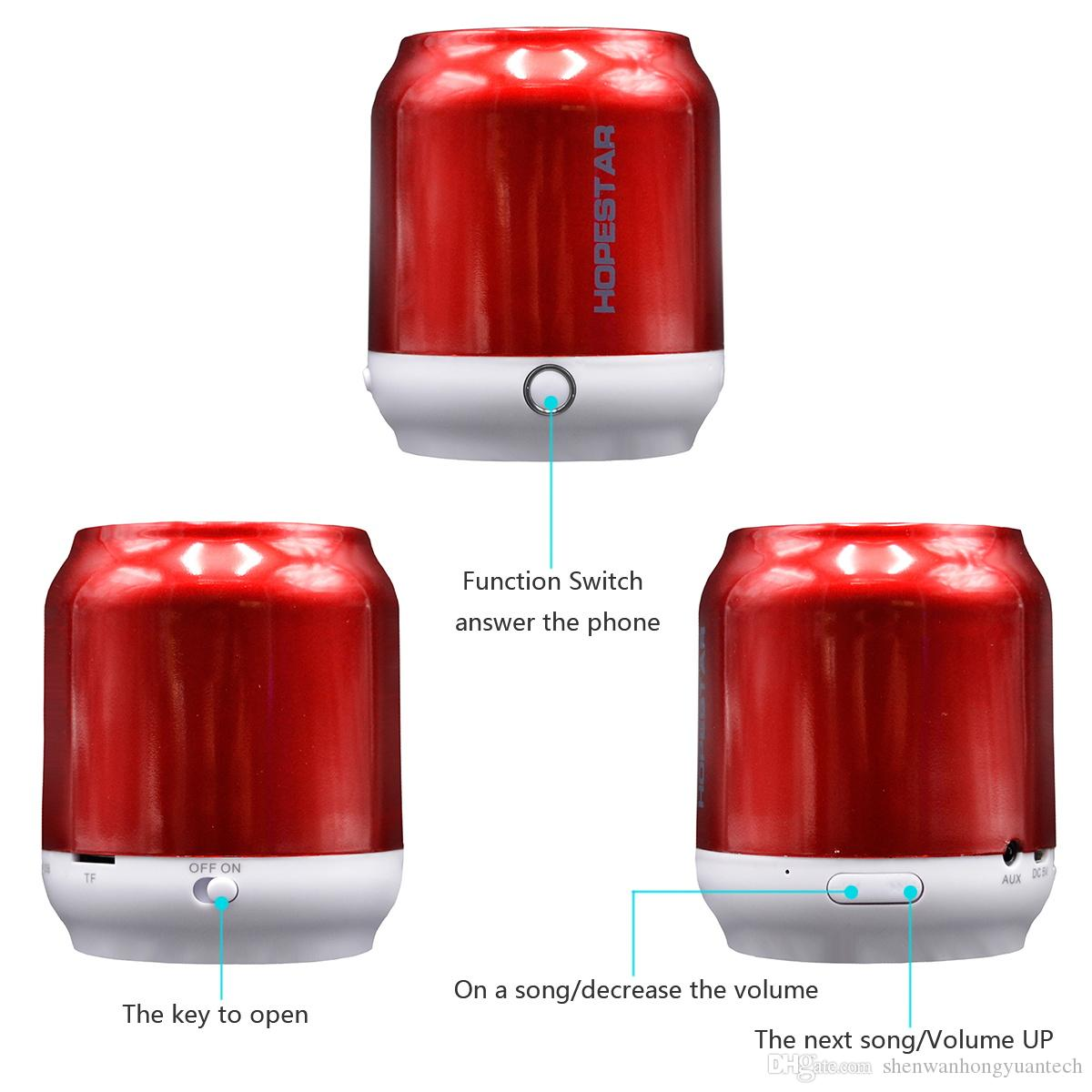 Hopestar H8 H9 Stereo Bluetooth Mini Speaker Portable Wireless Speakers Hi-Fi MP3 Loudspeaker Car Handsfree MIC Audio Player Support TF USB