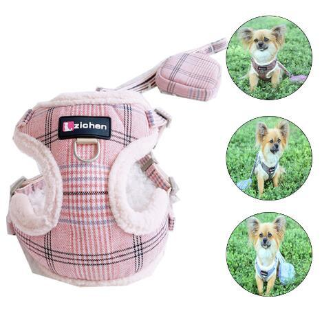 Macio Pet Dog Arreios Vest Quente Harness Dog Chihuahua Yorkshire cães pequenos Gato arnês e trela Jacket Set Dog Inverno Vest Pet
